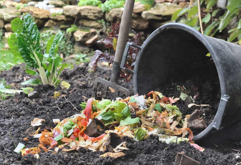 Küchenabfälle im Garten