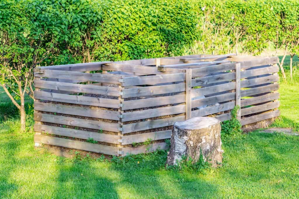 Komposter mit 3 Kammern aus Holz